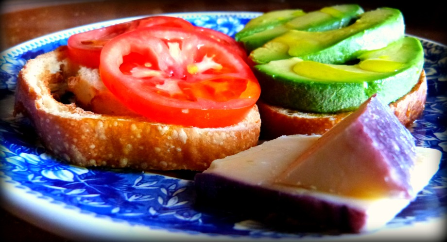 Fast Food: Avocado and Tomato on Sourdough Toast