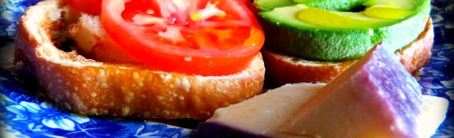 Fast Food: Avocado and Tomato on SourdoughToast