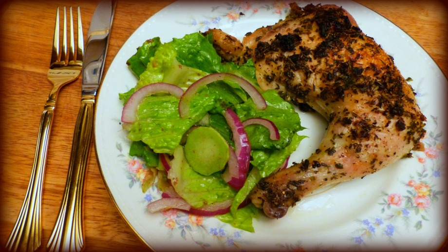 Herby Roasted Chicken Quarters