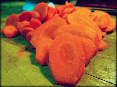 Diagonally Sliced Carrots