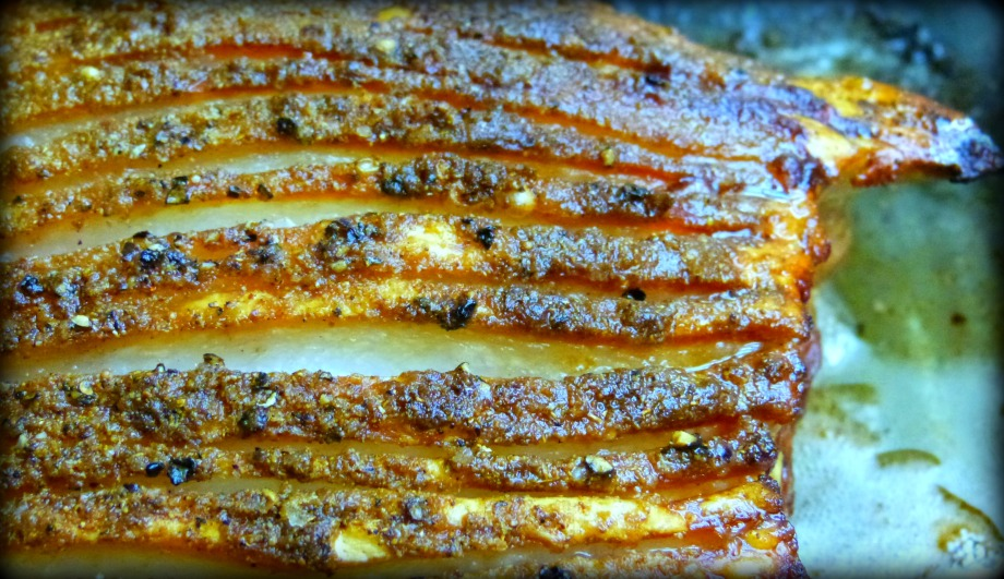 Fennel and Coriander Roasted Pork Belly with Crispy Crackling