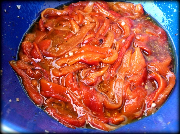 Roasted Marinated Red Bell Peppers