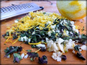 Lemon Zest, Oregano and Garlic