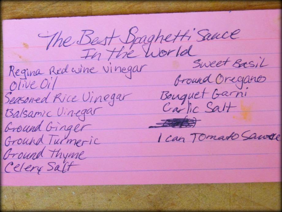 The Best Spaghetti Sauce in theWorld…