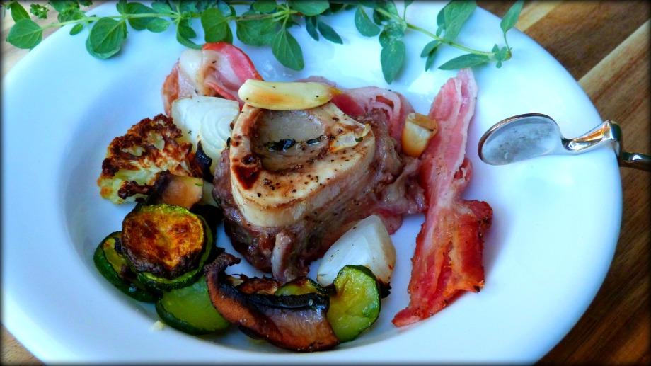 Roasted Marrow Bone with Bacon andGarlic